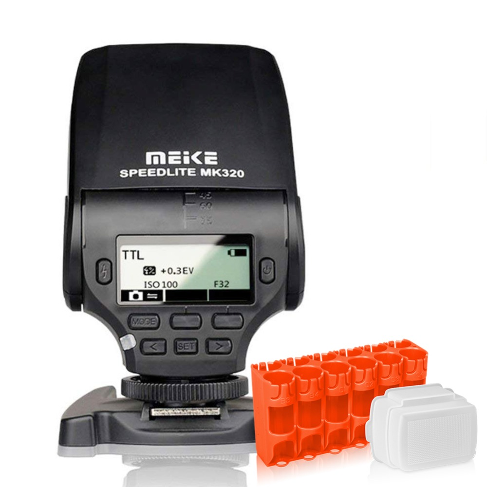 MEKE MK-320 Mini Flash TTL Flash Speedlite for Panasonic <font><b>Lumix</b></font> DMC GF7 GM5 GH4 GM1 <font><b>GX7</b></font> G6 GF6 GH3 G5 GF5 GX1 GF3 G3 image
