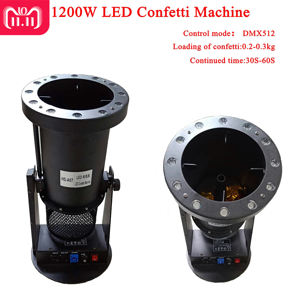 Free Shipping High quality 1200W Led Wedding Confetti Cannon Machine Wedding Machine Confetti Machine for Party Stage 2pcs 150w confetti machine wedding paper machine for stage wedding colorful confetti cannon machine