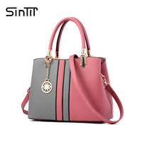 SINTIR 8 Colors Fashion Black And Red Patchwork Women Handbag High Quality Luxury Brand Leather Ladies