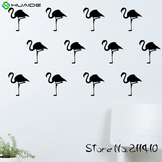 20 teile/satz flamingo wand muster aufkleber aufkleber vinyl diy ...