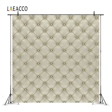 Laeacco Headboard Leather Diamond Pattern Luxury Photography Backgrounds Customized Photographic Backdrops For Photo Studio