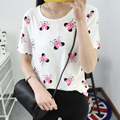 M-2XL 2016 summer Korean loose Mouse cartoon printed short-sleeved girl T-shirt shirt female women cotton t shirt tees TS62