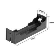 Caja de plástico para soporte de batería de 18650 V, 50 unidades por lote, caja de almacenamiento de baterías de 3,7 V con Pin PCB, plomo de montaje de soldadura al por mayor