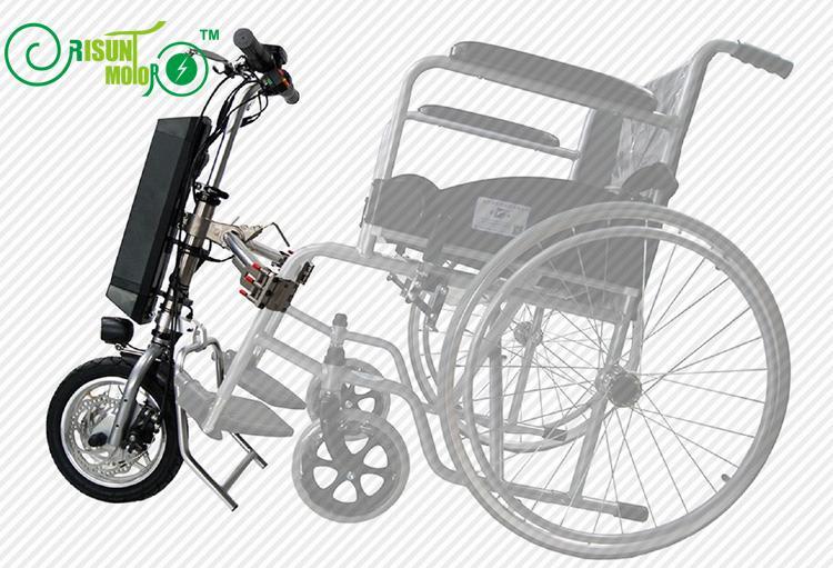 EU DUTY FREIES 36 v 250 watt Elektrische Handcycle Folding Rollstuhl Befestigung Handbike DIY Conversion Kits 36 v 9AH Li-Ion batterie
