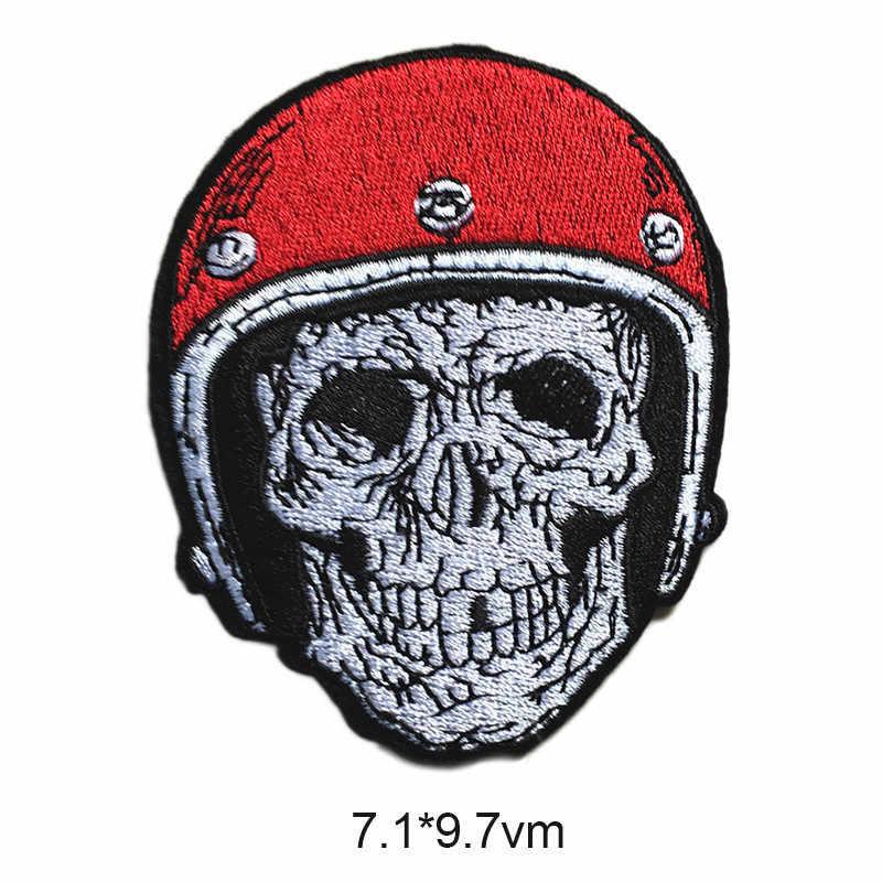 Наклейки для авто аксессуары для автомобиля наклейки для сахарного черепа крутой стиль череп скелет шитье железо на значках патч аппликация аксессуары