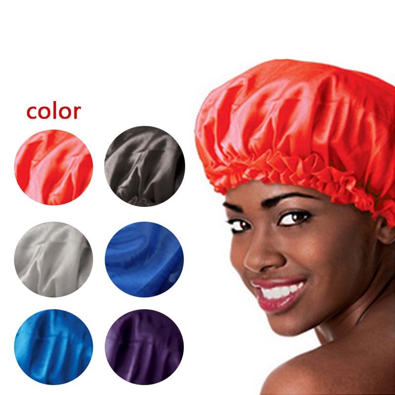 2019 Hot New Sleeping Hat Hogar Night Sleep Cap Home Hair Care Satin Bonnet Caps Nightcap For Women Men Hair Dryer Unisex Wyt77