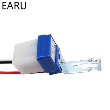 Automatyczne wyłączanie fotokomórka lampa uliczna przełącznik sterowanie oświetleniem DC AC 220V 50-60Hz 10A sterowanie zdjęciem czujnik fotoelektryczny przełącznik tanie i dobre opinie Przełączniki Przełącznik fotoelektryczny EARUELETRIC