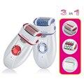 Оптовая 3 в 1 Голова Женщины Электрический Эпилятор Бритвы Для Удаления Волос женская бритья машины Для Подмышек Бикини Ноги Личного уход