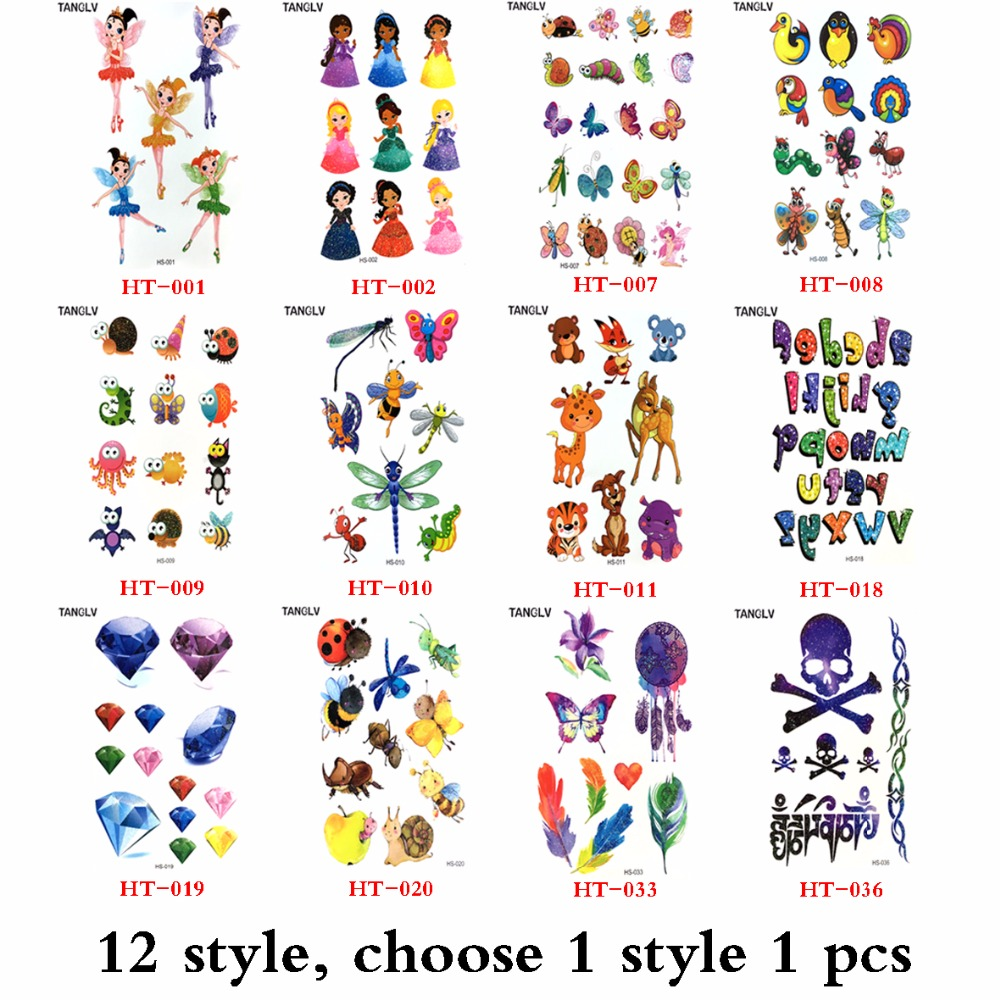 11.11 Special offer Free shipping 3d tattoo women sex products Comic pirates pattern Temporary Tattoo body art flash tattoos cabeza de toro de colores