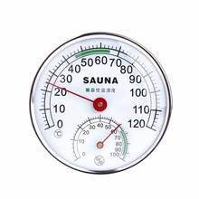 Stainless Steel Pointer Thermometer Hygrometer for Sauna Room Analog Dispalay Temperature Humidity Meter Tester Tools