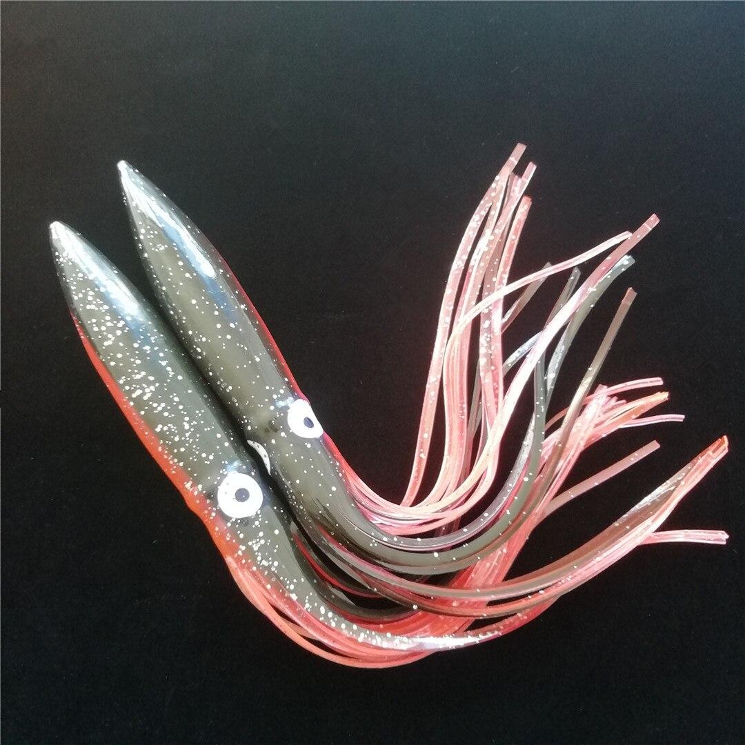 Swolfy 5 шт. 30 см 40 г осьминог приманка кальмары Рыболовная Приманка Мягкая приманка для морской рыбалки соленая вода юбка рыболовные снасти