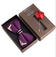 2017 New Show Korean version of the British men's bow tie groom groom wedding uniforms wedding tie fine diamond bow tie