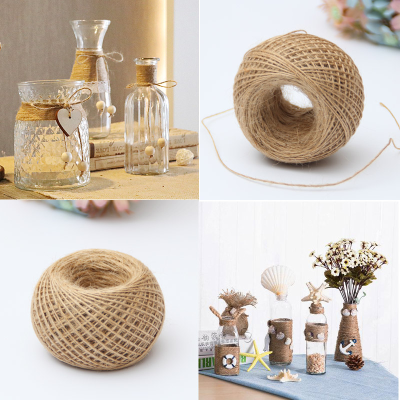 1mm natural jute twine cord diy decorative handmade for Diy jute