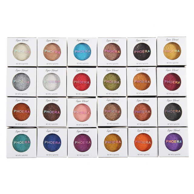 PHOERA 24 Clors 2018 Cosmetic Eye Shadow Palette Glitter Shimmer Powder Natural Pigment Eyes Makeup Cosmetic TSLM2 3