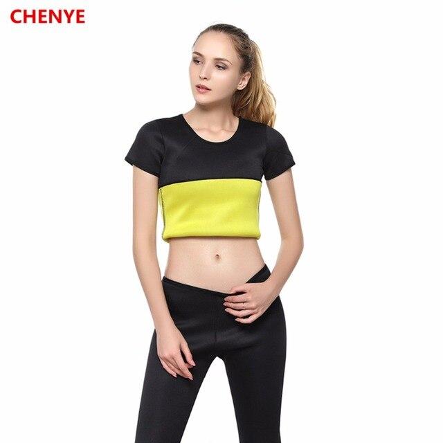 8fdb8838c08 Hot Shapers Waist-Trimmer Slimming Shirt Thermo Neoprene Waist Trainer Shirt  Ultra Sweat Body Shaper Slim Fitness Control Corset