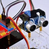 ロボットスマート車のボット学習スターターキットlcdディスプレイリモートレーシングカー用arduino