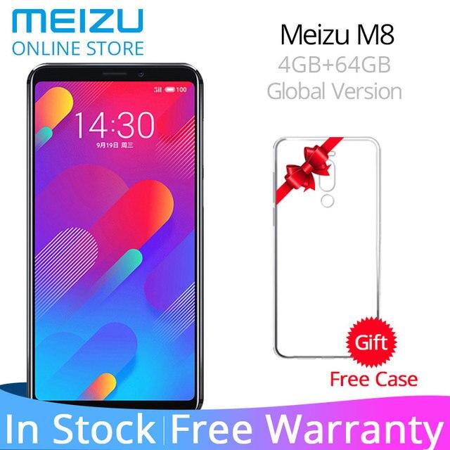 """מקורי גלובלי גרסה Meizu M8 V8 4 GB 64 GB ROM נייד טלפון MTK Helio P22 אוקטה Core 5.7"""" 18:9 מלא מסך טביעות אצבע נעילה"""