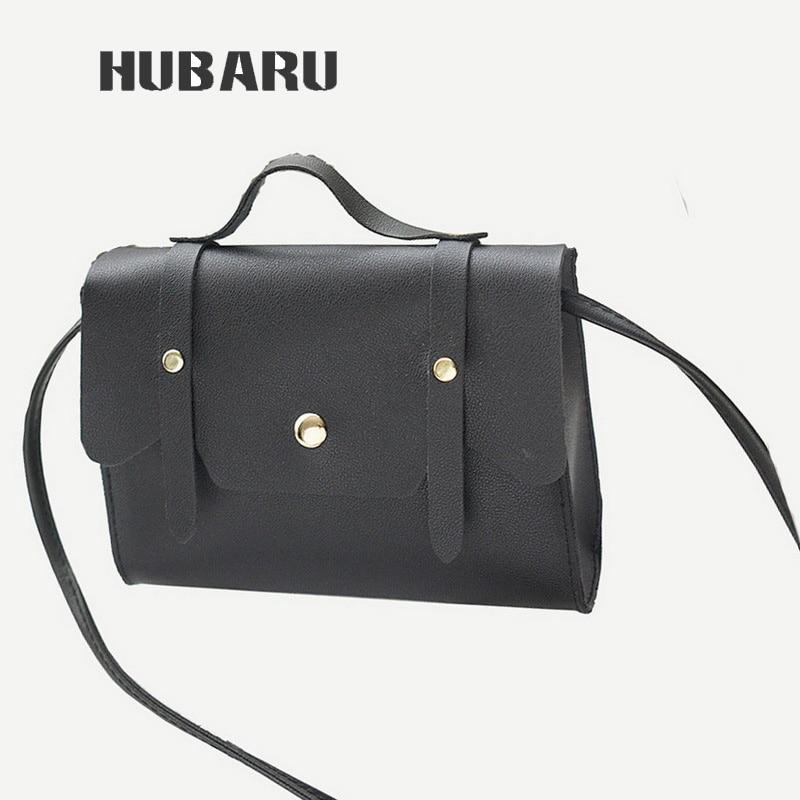 HUBARU 2019 Summer Fashion Women Bag Leather Handbags PU Shoulder Bag Small Flap Crossbody Bags Bucket Messenger Bags in Shoulder Bags from Luggage Bags