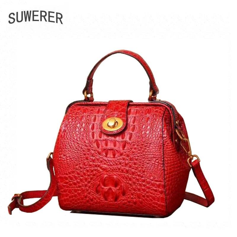 SUWERER 2018 New Women Genuine Leather bags fashion luxury Crocodile pattern women bags designer small women leather handbags напольная акустика pmc twenty5 26 walnut page 5