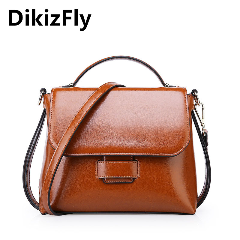 DikizFly New Style luxury handbags Real Leather women bags Fashion vintage tote bag shoulder messenger bag bolsa feminina bolsas men s genuine leather handbags vintage fashion bolsa feminina casual 2017 new style messenger bag clutch shoulder bags office