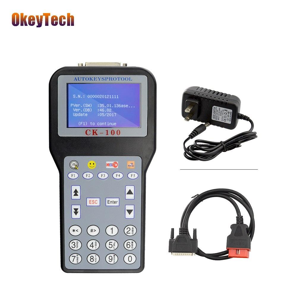 Programmeur de clé de voiture OkeyTech CK-100 V99.99 programmeur de clé de voiture automatique professionnel multilingue pour Audi Ford Benz Bmw et ainsi de suite