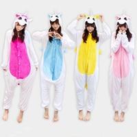 Kigurumi Rainbow Flannel Unicorn Pajamas For Women Unisex Licorne Cartoon Pyjama Anime Hoodie Pijama De Unicornio