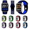 Fashion Brand Silicon Sports Band Colorful Wrist Strap For Apple Watch 38 42mm Black Volt Bracelet