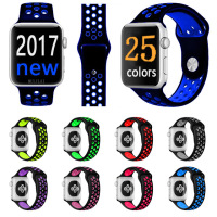 Fashion Brand Silicon Sports Band Colorful Wrist Strap For Apple Watch 38 42mm Black Volt Bracelet