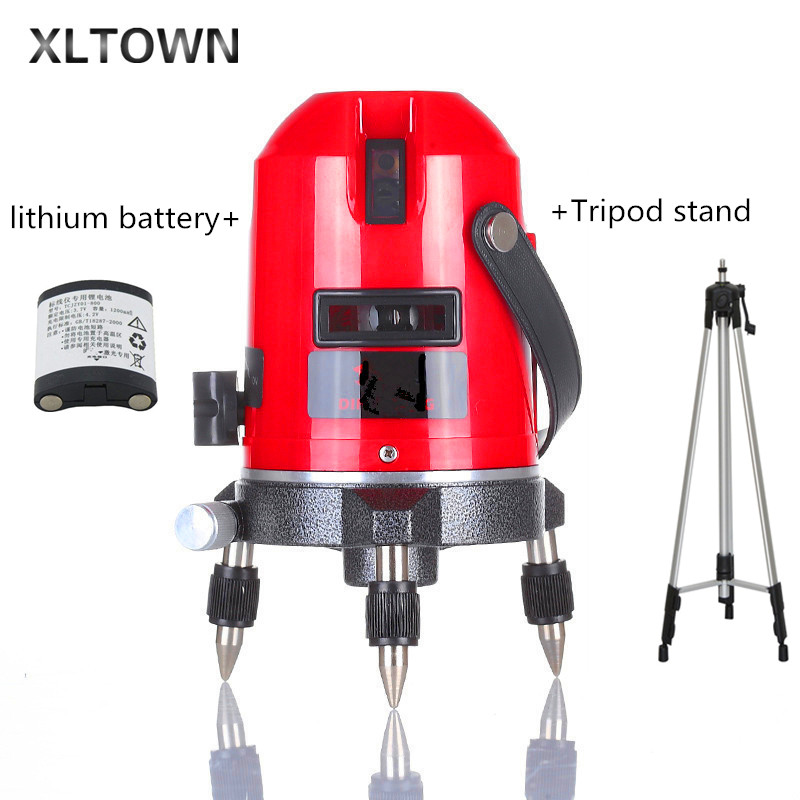Xltown high quality 5 lines 6 points laser level meter house decoration measuring instrument measuring tool set Laser Level Tool laser cast line instrument marking device 5 lines the laser level