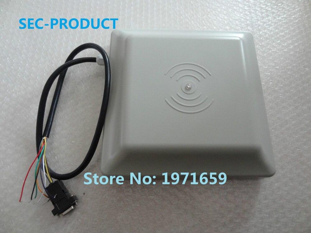 High quality 2 pcs 6M long rang UHF RFID card reader with interface RS232/RS485/Wiegand Reader / parking RFID reader цены онлайн