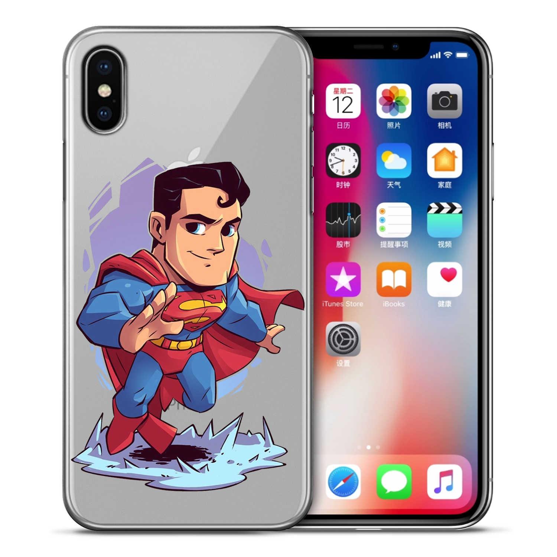 Justice League Bat Siêu người đàn ông Joker Điện Thoại Trường Hợp bìa Cho iPhone XS Max XR X 7 6 s 8 Cộng Với 5 S trường hợp bìa etui