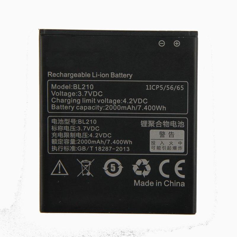 Original High Quality BL210 Battery For Lenovo A536 A606 S820 S820E A750E A770E A656 A766 A658T S650 2000mAh