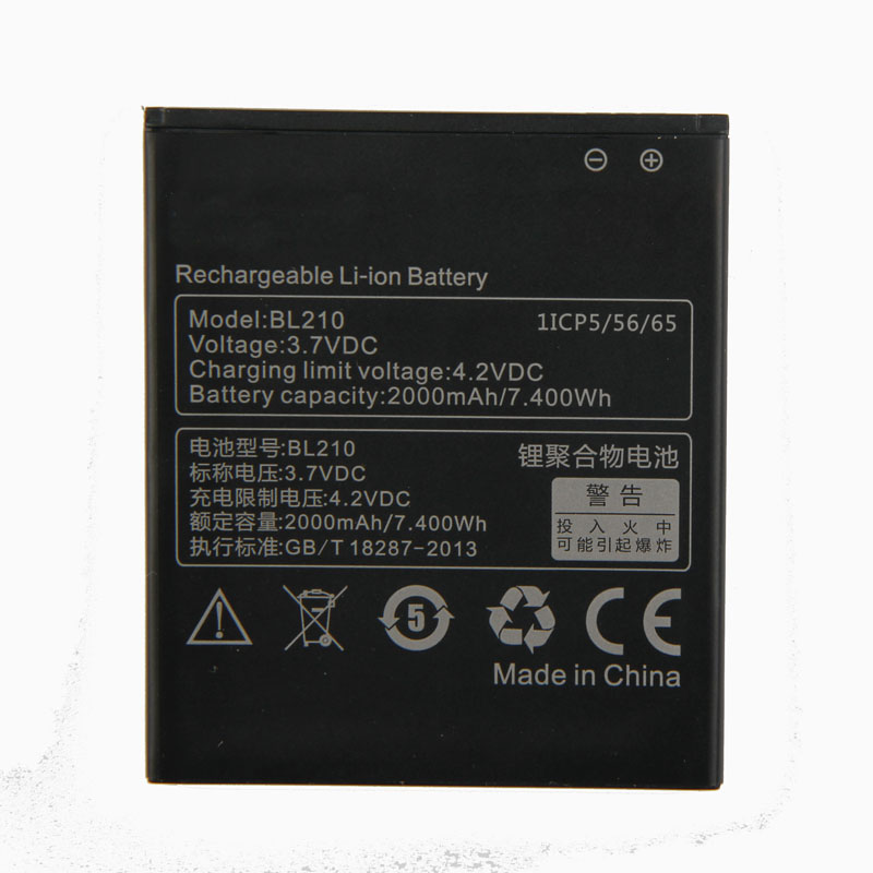 Original High Quality BL210 <font><b>Battery</b></font> For <font><b>Lenovo</b></font> A536 A606 S820 S820E A750E A770E A656 A766 A658T <font><b>S650</b></font> 2000mAh image