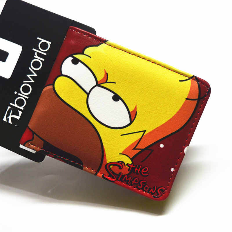 Cartoon Wallet  The Simpsons  POLICE BOX Credit Card Photo Boy and Girl Short Wallet