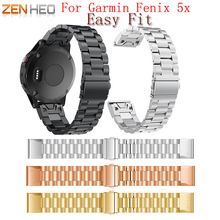 Strap Watchband for Garmin Fenix 5X for Garmin Fenix 3 3 HR GPS Watch Replacement Stainless Steel Easyfit Watch Wrist Band Strap цена