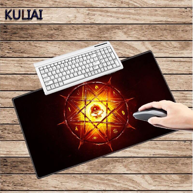 KULIAI DIY Warface Video Logo Big Gaming Mouse Pad Games Pc Gamer Laptop MousePad 30X60 To 40X90 Cm for Hearthstone Mass Effect