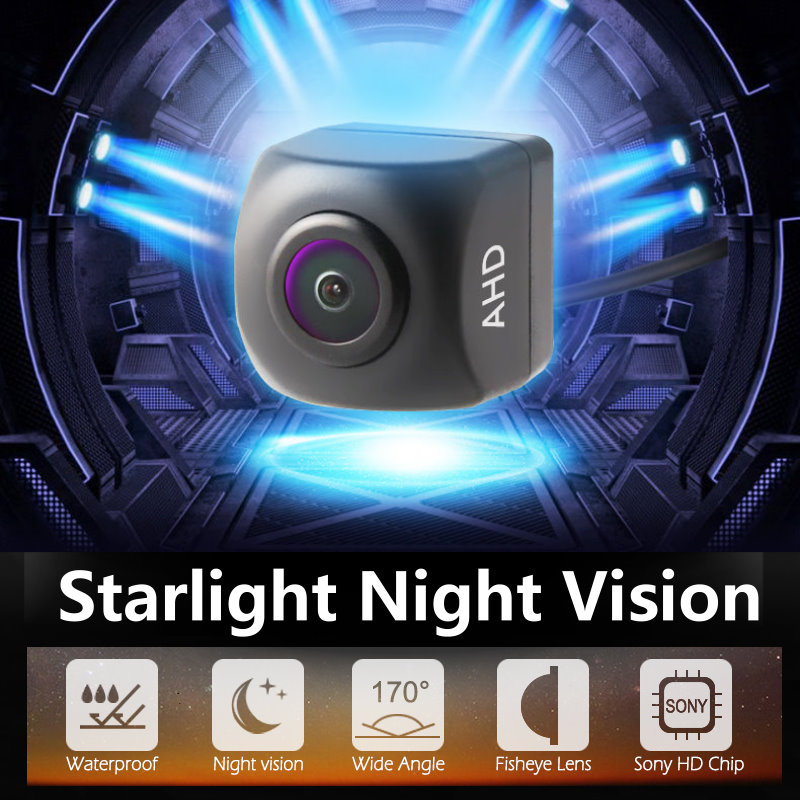 Universal 4G Android Large Screen Ultra High Definition AHD Reversing Image Camera Starlight Night Vision Rear View Camera 1080P