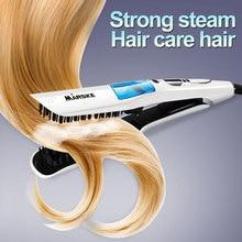 Original Hair Straightener Professional Steam Hair Straightener Comb   LED Heating Fast Flat Iron Digital Iron Hair Styling Tool