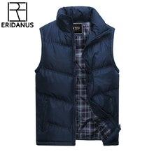 Новый бренд Для мужчин s куртка без рукавов жилет Зимние Модные повседневные пальто мужской хлопок-мягкий Для мужчин жилет Для мужчин утепленный жилет 3XL X378