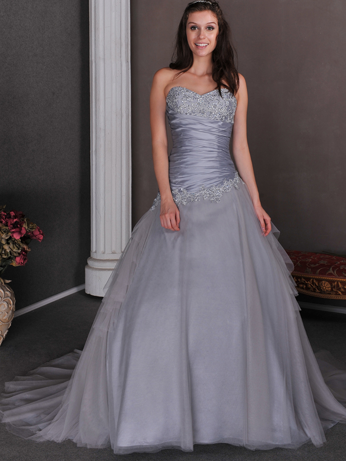 Aliexpress.com : Buy 2015 Cheap Silver Grey Ball Gown Princess ...
