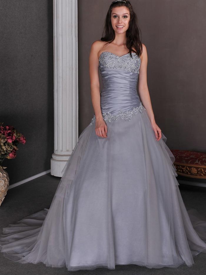 Aliexpress.com : Buy 2015 Cheap Silver Grey Ball Gown Princess ...