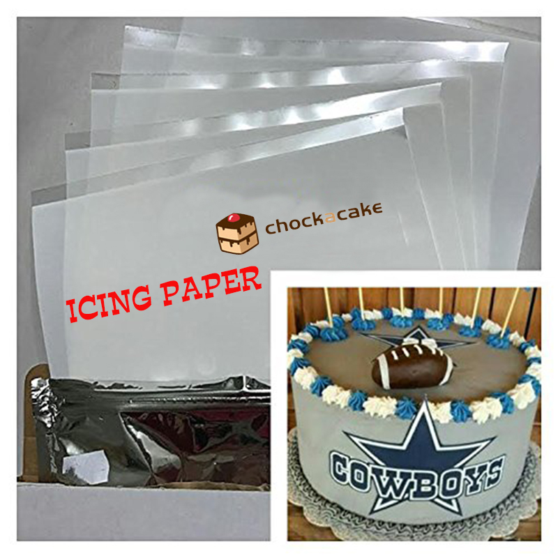 graphic about Edible Printable Paper for Cakes referred to as 25computers Wholesale Frosting Icing Paper for Cake Decorating, A4 Edible Printing Paper, Higher High quality Kosher Paper Totally free Delivery