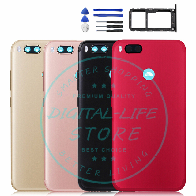buy online aadd8 eb39d US $13.59 15% OFF Aliexpress.com : Buy For Xiaomi Mi A1 MiA1 Battery Back  Cover Rear Door Housing Replacement Repair Spare Parts+ Power Volume Button  ...