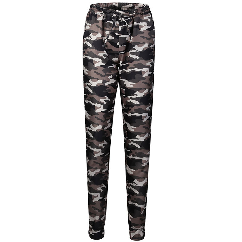 2019 New Stylish Women Camouflage Pants Camo Cargo Joggers Military Army Harem Trousers 9