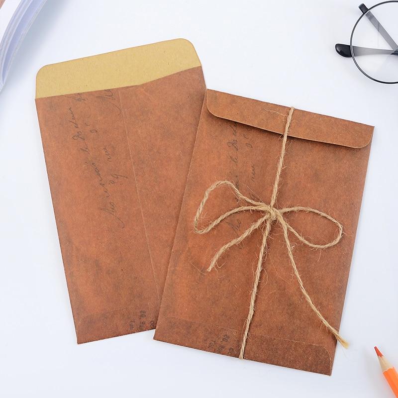10 Pcs/lot Retor Vintage Kraft Paper Envelope Envelopes For Invitations European Style For Card Scrapbooking Gift Free Shipping