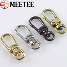 5pc 8mm Leather Belt Bag Chain Strap Metal Buckles Clasp Lobster Dog Collar Swivel Trigger Clips Snap Hook DIY Handbag Accessory цена