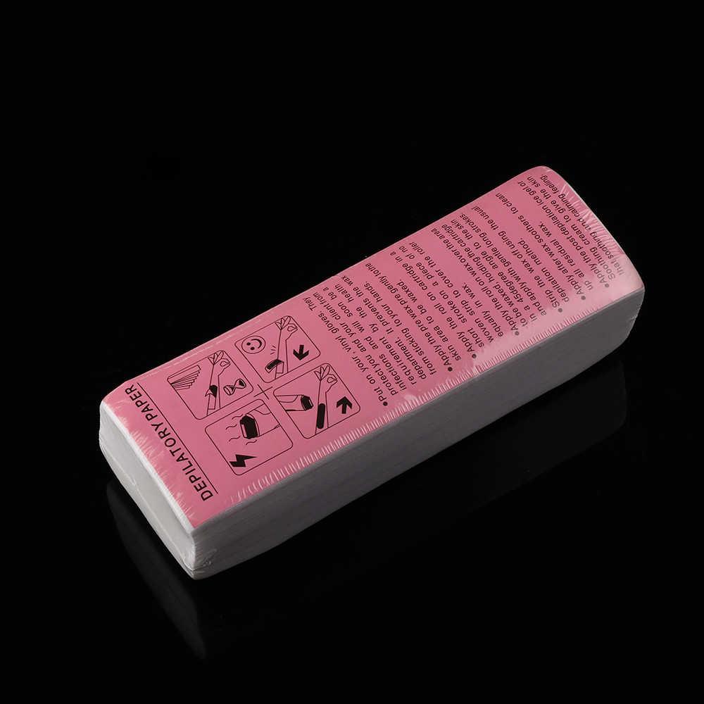 100 шт. для депиляции волос Нетканые тело ткань мешок удалить воск Бумага ролики удаления волос высокое качество Бумага прокрутки полосы