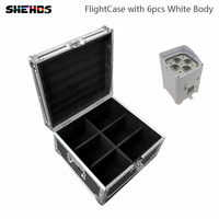 FlightCase With6 8 10 12pcs 4x18W Led Butterfly Stage Light RGBWA UV Battery Powered Effect LED