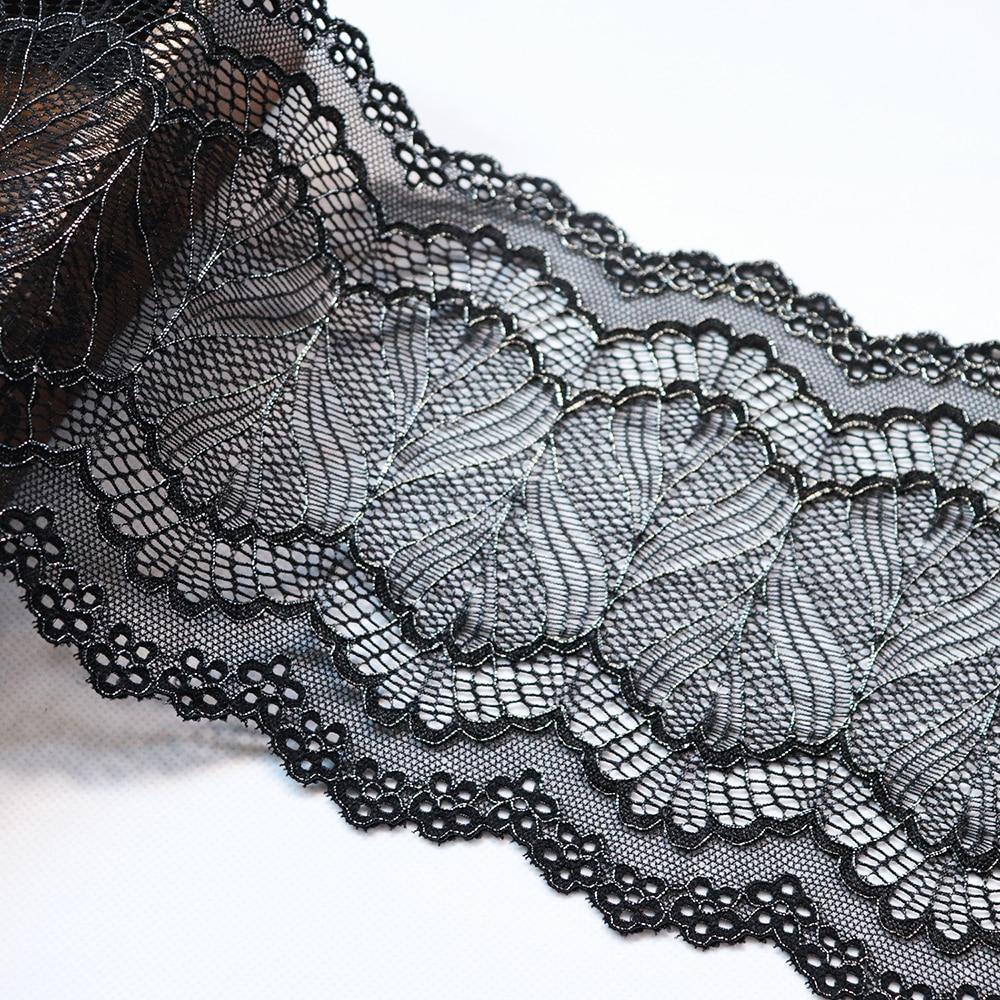 Französische elastische Spitze,Spitzenborte,Lace,stretch kobalt blau 19cm breit