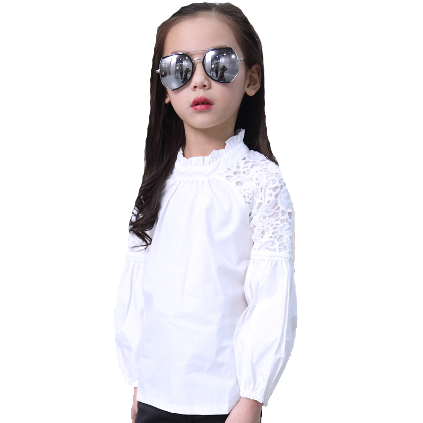 Girls Shirts for Kids Lace Blouses Children Clothing High Quality Autumn Baby Blouses Infants Clothes 4 8 10 12 Years Girls Tops